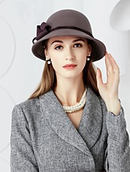 cheap -Wool Hats with Floral 1pc Wedding / Party / Evening Headpiece