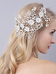 cheap -Crystal / Imitation Pearl Headbands with Flower 1 Piece Wedding / Party / Evening Headpiece