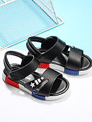 cheap -Boys' Shoes Leatherette Summer Comfort Sandals Magic Tape for Outdoor White Black