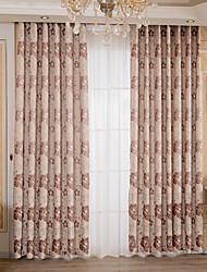 preiswerte -Vorhänge drapiert Schlafzimmer Blumen 100% Polyester Jacquard Jacquard