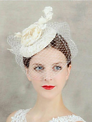 cheap -Flax Fascinators / Headdress with Faux Pearl 1pc Wedding / Special Occasion Headpiece