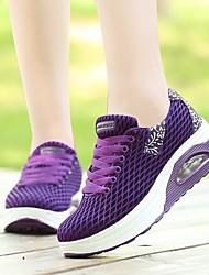abordables -Femme Chaussures Tulle Printemps été Chausson de Berceau Basket Hauteur de semelle compensée Bout rond Noir / Gris / Violet