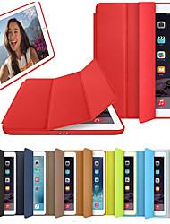 billiga -fodral Till Apple iPad (2018) / iPad (2017) Lucka / Origami / Magnet Fodral Enfärgad Hårt PU läder för iPad Air / iPad 4/3/2 / iPad (2018)