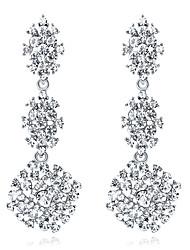 abordables -Cristal Lámparas Araña Pendientes colgantes - Copo de Nieve Moda, Elegante Plata Para Boda / Fiesta / Noche