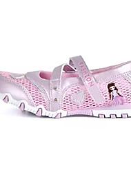 Недорогие -Девочки Обувь Дышащая сетка Лето Детская праздничная обувь Сандалии для Пурпурный / Розовый / Белый и фиолетовый