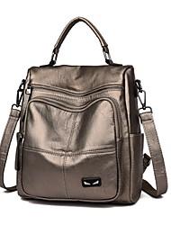cheap -Women's Bags PU(Polyurethane) Backpack Zipper Black / Red / Purple