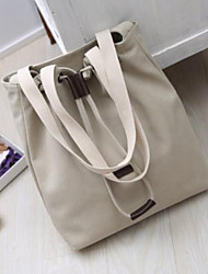 cheap -Women's Bags Canvas Tote Buttons White / Black / Dark Gray