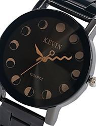 baratos -Mulheres Quartzo Relógio de Pulso Chinês Cronógrafo / Criativo / Mostrador Grande / Fase da lua Lega Banda Rígida Preta