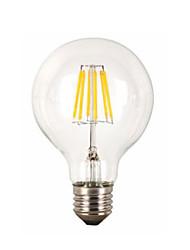 Недорогие -1шт 6 W 560 lm E26 / E27 LED лампы накаливания G95 6 Светодиодные бусины COB Декоративная Тёплый белый 220-240 V / 1 шт. / RoHs