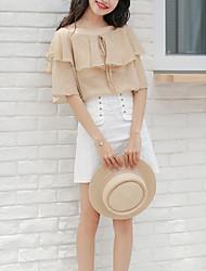 cheap -Women's Basic Blouse - Plaid Print