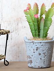 baratos -Flores artificiais 1 Ramo Retro Plantas suculentas Flor de Mesa