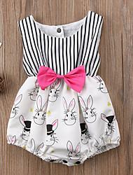 cheap -Baby Girls' Striped Sleeveless Romper