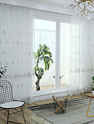 cheap -Sheer Curtains Shades Bedroom Bohemian Knitted Embroidery