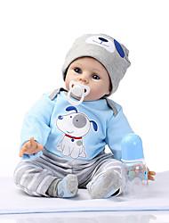 Недорогие -NPKCOLLECTION Куклы реборн 24 дюймовый Силикон - как живой Милый стиль Подарок Безопасно для детей Non Toxic Ручные прикладные ресницы Детские Универсальные / Девочки Игрушки Подарок / CE