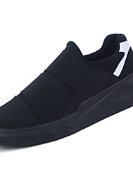 billiga -Herr PU Höst Komfort Sneakers Svart / Svartvit