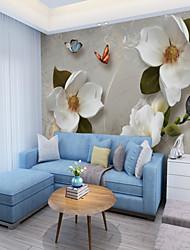 preiswerte -Tapete / Wandgemälde Segeltuch Wandverkleidung - Klebstoff erforderlich Blumen / Muster / 3D