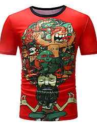 baratos -Homens Camiseta Básico Retrato