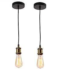 baratos -2 pcs loft vintage mini luzes pingente de metal bares cozinha sala de jantar pingente de luz