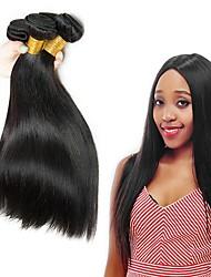 Недорогие -Индийские волосы Прямой Человека ткет Волосы / Накладки из натуральных волос Ткет человеческих волос Удлинитель / Горячая распродажа