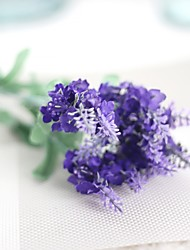 cheap -Artificial Flowers 5 Branch Rustic / Wedding Flowers Lavender / Eternal Flower Tabletop Flower