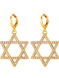 cheap -Hoop Earrings - Starfish, Star of David Fashion Gold / Silver For Daily / Date