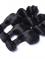 baratos -3 pacotes Cabelo Brasileiro Ondulado Cabelo Humano Tecer 22 polegada Tramas de cabelo humano Fabrico à Máquina Melhor qualidade Côr Natural Extensões de cabelo humano Mulheres