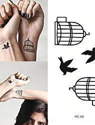 abordables -Adhesivo / Pegatina tatuaje brazo Los tatuajes temporales 10 pcs Series de Animal Artes de cuerpo