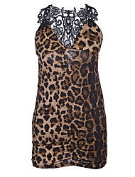 cheap -Women's Babydoll & Slips Nightwear - Lace, Leopard
