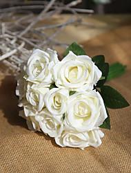 Недорогие -Искусственные Цветы 9 Филиал Для вечеринки Свадьба Розы Вечные цветы Букеты на стол
