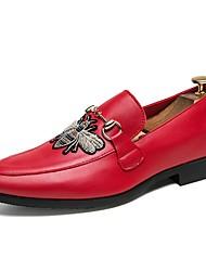 abordables -Homme Chaussures Polyuréthane Eté Confort Mocassins et Chaussons+D6148 Blanc / Noir / Rouge