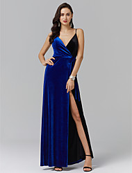 cheap -A-Line Spaghetti Strap Ankle Length Spandex Prom / Formal Evening Dress with Sash / Ribbon / Side Draping / Split Front by TS Couture®