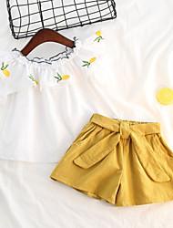 Недорогие -Дети / Дети (1-4 лет) Девочки Фрукты С короткими рукавами Набор одежды