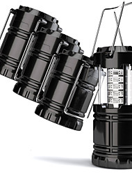 cheap -4 Pack Lanterns & Tent Lights / Emergency Lights LED Manual Mode Portable / Waterproof Camping / Hiking / Caving Black
