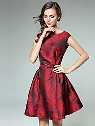 povoljno -Žene Vintage / Ulični šik A kroj Haljina Cvjetni print Mini