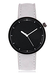 cheap -Men's / Women's Wrist Watch Chinese Large Dial Leather Band Bangle / Colorful Black / White / Red / SSUO LR626
