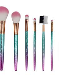 cheap -7 pcs Makeup Brushes Professional Makeup Brush Set Nylon fiber Eco-friendly / Soft / Color Gradient Plastic