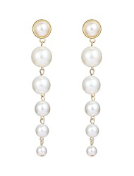 cheap -Long Drop Earrings - Pearl, Imitation Pearl Ball Fashion, Oversized White For Carnival / Date