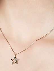 cheap -Women's Pendant Necklace / Chain Necklace - 18K Gold Plated, S925 Sterling Silver Starfish Dainty Gold 40 cm Necklace For Gift, Festival