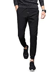 abordables -Hombre Tallas Grandes Algodón Pantalones Harén / Chinos Pantalones - Un Color