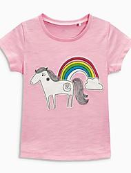 economico -Bambino / Bambino (1-4 anni) Da ragazza Nero e grigio / In bianco e nero / Nero e rosso Cielo stellato Manica corta T-shirt