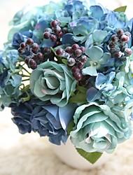 abordables -Fleurs artificielles 8.0 Une succursale Rustique / Fleurs de mariage Roses / Fleurs éternelles Fleur de Table
