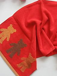 Недорогие -Свежий стиль Полотенца для мытья, Мультипликация Высшее качество Полиэстер / Хлопок 100% хлопок Жаккардовое плетение 1pcs