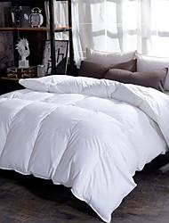 baratos -Confortável - 1 Colcha Inverno Penas de Ganso Branco Sólido