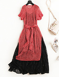 cheap -Miss French Women's Blouse - Polka Dot Dress