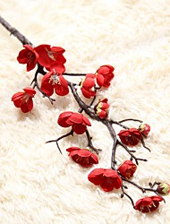 baratos -Flores artificiais 1 Ramo Tradicional / Estilo simples Ameixa / Flores eternas Flor de Mesa