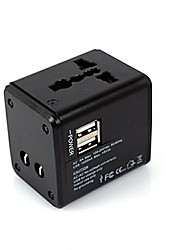 abordables -Base de Carga / Cargador Portátil Cargador usb Enchufe USA / Enchufe UE / Enchufe UK Multisalida 2 Puertos USB 5.1 A 100~240 V para / Enchufe AU