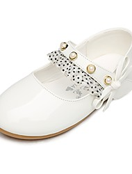 cheap -Girls' Shoes Lace / Leatherette Spring & Fall Flower Girl Shoes / Comfort Flats Beading / Hook & Loop for Kids Wedding / Outdoor / Party