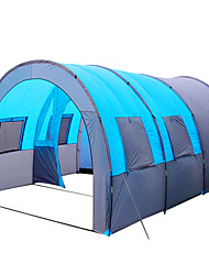 cheap -8 person Family Tent Triple Layered Poled Tunnel Camping Tent Three Rooms Outdoor Lightweight, Fast Dry, Windproof for Fishing / Camping / Hiking / Caving / Picnic 1000-1500 mm Terylene, Polyster