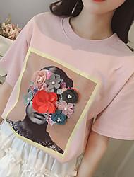 cheap -Women's Going out / Beach T-shirt - Portrait
