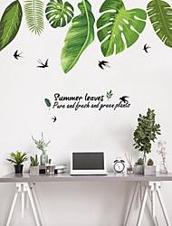 abordables -Autocollants muraux décoratifs - Autocollants avion Animaux / A fleurs / Botanique Salle de séjour / Chambre à coucher / Salle de bain